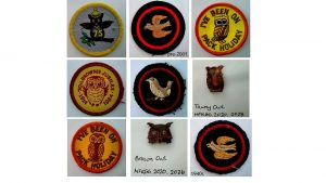 Picture of 9 bird related badges