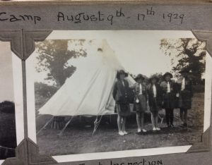Girls at camp, Aug 9 to Aug 17 in 1929
