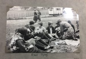 Photo of girls practicing tying knots