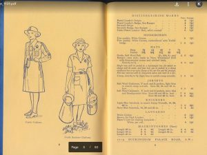 Picture of 1939 camping catalogue