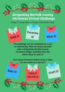Christmas Virtual Challenge poster